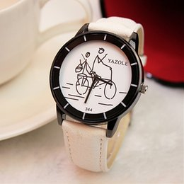 Wholesale Girl Hour - 2017 new Fashion Women Casual Watch Bicycle Pattern Wristwatch for Girl Students Quartz Cartoon Watch Clock Hours Relojes