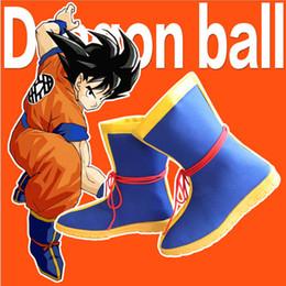 Wholesale Dragon Ball Son Goku - New Arrival Cosplay Anime Dragon Ball Z Son Goku Shoes Boots Unisex Cos Roman Cowboy Boot Shoe Costume