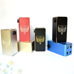 Wholesale e cigarettes battery display - Hammer of God 2 Box Mod Square Metal Tube fit 18650 Battery 510 RDA Atomizer with LED Voltage Display E Cigarette DHL Free