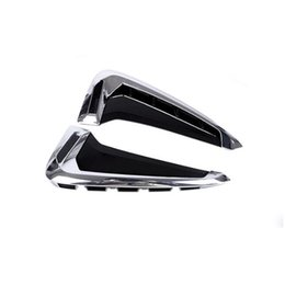 Wholesale Chrome Trim For Cars - Car Door Both Side Panel decoration decals 2pcs for BMW X5 F15 2014-17 Chrome ABS Fender Trim Strips Car styling
