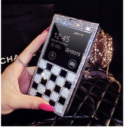 Wholesale Minions S3 - Minion diamond fox head phone cases rabbit fur hair phone cover for Samsung Note2 3 S3 4 5