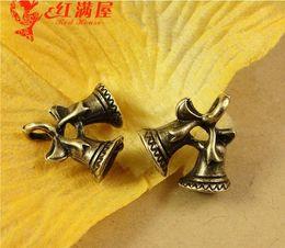 Wholesale Tibetan Bells Necklace - 16*16MM Antique Bronze Christmas gingle bell charm for bracelet, metal dangle vintage pendants for necklace, tibetan holiday jewelry making