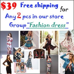 Wholesale Low Price Elegant - Any 2pcs free shipping with lowest price Fashion women Elegant Vintage sweet all style Dress stylish sexy summer dresses