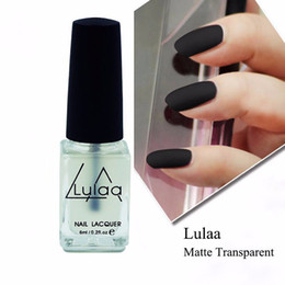 Wholesale super matte nail polish - Wholesale-Nail Art Polish Magic Super Matte Transfiguration Frosted Surface Bright Oil Top Coat u6823