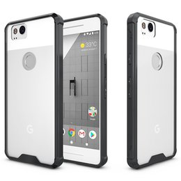 Wholesale Universal Case Silicone Phone - For Google Pixel 2 Case Transparent Clear Hybrid Bumper Shockproof Back Cover Phone Accessories For Google Pixel 2 Google Pixel XL 2