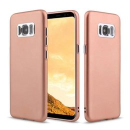 Wholesale Note Metal Back - Electroplated Metal Button Hybrid Case Shockproof Slim TPU Hard Back Covers For Iphone 8 7 plus Samsung Note 8 S8 Plus J7 2017 OPP Bag