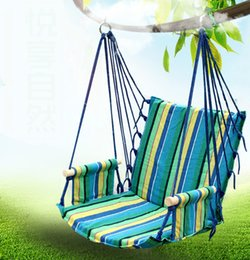 Wholesale Swing Child Chair - Wholesale- Hot sale portable outdoor breathable comfortable hammock swing indoor children adult hammock chair