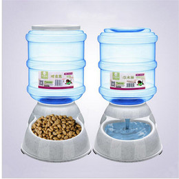 Wholesale Large Pet Water Bowl - 3.5L Large Automatic Pet Feeder Drinking Fountain For Cats Dogs Environmental Plastic Dog Food Bowl Pets Water Dispenser