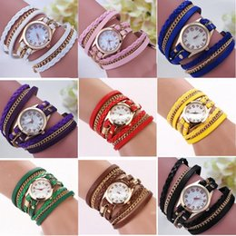 relogios pulseira de corda Desconto Atacado das Mulheres Criativas Cadeia Trançada Corda Pulseira Trançada Enrolamento Pulseira Relógio de Quartzo das Mulheres Relógio de Pulso Frete Grátis