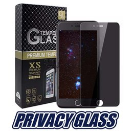 Escudo de privacidade on-line-Para iphonex privacidade protetor de tela de vidro temperado anti-spy capa escudo para ls775 ls770 samsung s6 s7 com pacote de varejo