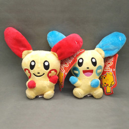 "Wholesale Bunny Stuff Toys - New Fun 2 Styles 6.5"" Plusle Minun Rabbit Plush Doll Anime Collectible Bunny Dolls Kid's Party Gifts Soft Stuffed Toys"