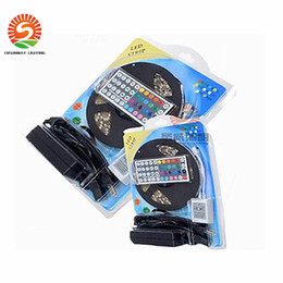 Wholesale Holiday Gift Packaging - Led Strip Light RGB 5M 5050 SMD 300Led Waterproof IP65 + 44Key Controller + 5A Power Supply With Retail Package Christmas Gifts