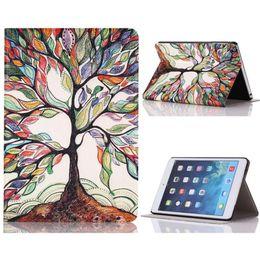 Дизайн древостоя онлайн-Оптовая продажа-самый дешевый Tablet Life Green Tree Design стенд PU кожаный чехол для ipad mini 1/2/3 смарт-чехол для ipad mini