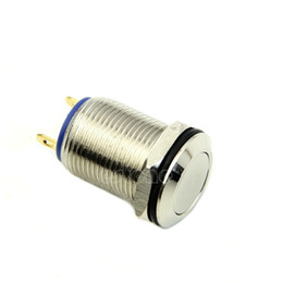 Wholesale Stainless Momentary Switch - Wholesale- J34 Free Shipping 12mm OFF ON 1NO Stainless Momentary Pushbutton Switch Waterproof