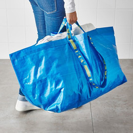 Wholesale Grocery Shopping Bags - 10pcs Large Shopping Bag Laundry Tote Grocery Storage Reusable Strong FRAKTA