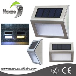 Wholesale Led Stairway Wall Lights - Decorative Outdoor 12v Powerful Wall Mounted Solar LED Garden light for Courtyard Stairways
