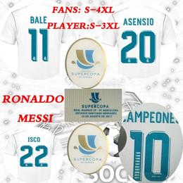 2019 copa real madrid Supercopa de España 2017 para 16 de agosto Real Madrid local asensio vs messi home supercopa Camiseta de fútbol ISCO Uniformes de la camiseta Ventas copa real madrid baratos