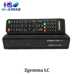 Wholesale Top Fta Receivers - 5pcs Original Zgemma star LC FTA HD ENIGMA2 LINUX OS zgemma lc DVB-C cable tv set top box digital cable receiver