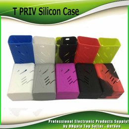 Wholesale Newest Mods - Newest Colorful Silicon Case Protective Skin Sleeve Bag Wrap For Smok T-priv 220W Box Mod T Priv Starter Kits IN Stock 0213180