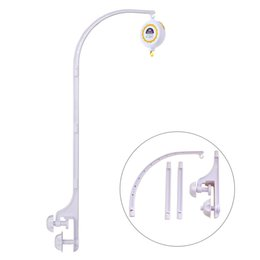Wholesale Crib Mobile Arm - Wholesale- SHILOH 60 Songs Rotary Baby Mobile Crib & Bracket DIY Hanging Baby Crib Mobile Bed Bell Holder Arm Bracket, White