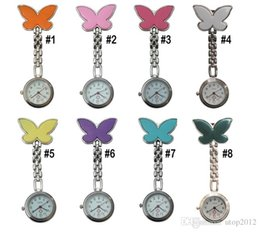 Wholesale Pocket Watch Nurse - The Popular Watch Medical Nurse Smiling Face Pocket Watch Fashionable Butterfly Design Free Shipping Via DHL