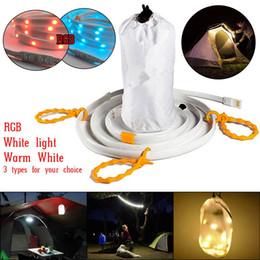 Wholesale Led Lantern Blue - USB LED Strip Light Waterproof 5ft 1.5M Flexible Strip Rope and Lantern Emergencies Light Waterproof for Car Camping Biking Running Hiking