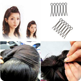 Wholesale Broken Dishes - Wholesale- 4pcs set women girl the clip before bangs hair style dish hair hair plug inserted bangs increased stealth broken comb