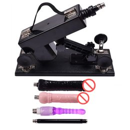 Wholesale Funny Anal Toys - Hot Automatic Sex Machine Gun with Dildo Accessories Funny Sex Toys Robot Sex Machines with Big Penis and Anal Dildo