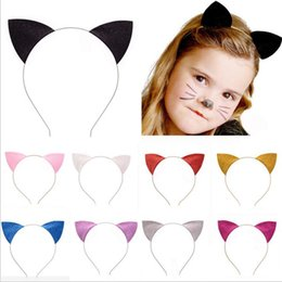 Wholesale Cat Party Favors - Cosplay Catwomen Headbands Adults Kids Glitter Cat Ears Halloween Fancy Dress Headband Christmas Costume Accessories Party Favors