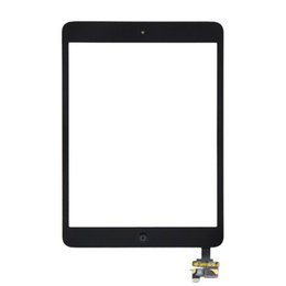 Wholesale Glass Panel Connector - 50PCS (Tested) Black White For iPad Mini 2 iPad mini 1 Touch Screen Digitizer Panel Outer Glass With ic Connector Home Button DHL Free