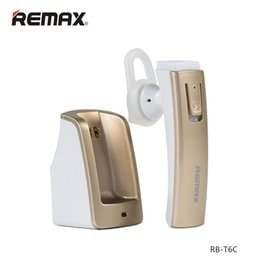 Wholesale Bluetooth Phone Base - Remax RB-T6C Long Standby Wireless Bluetooth Headset Music Headphone Car Driver Handsfree Earphone with Intelligent Charging Base