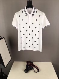 Wholesale Mens Designer Clothing Brands - Luxury Men T Shirt Brand Designer Plus Size Slim Fit Embroidery T Shirts Homme Short Sleeve Mens Brand Clothing Camisa Masculina Hot