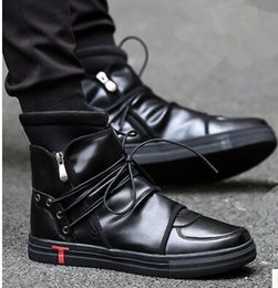 Wholesale Motorcycle Boots Zipper - New Arrival Hot Sale Fashion Martin Side Zipper Velvet Male Cowboy Tidal Noble Tidal Special Handsome Casual Ankle Boots EU39-44