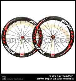 Wholesale Wheelset Sale - Hot sale FFWD F6R wheels 60mm wheelset Novatec powerway hubs full carbon road bicycle bike wheels free gifts
