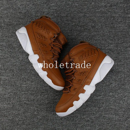 Wholesale Brown Baseball Gloves - Free Shipping Air Retro 9 Baseball Glove basketball shoes Mens retro 9s Baseball Glove Brown Sneakers For Sale Size US 8-13