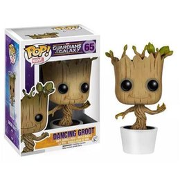 Wholesale Marvel Bobble Heads - Marvel Guardians of the Galaxy Groot FUNKO POP Wacky Wobbler Shake Bobble Head Tree Toy PVC Action Figure Free shipping