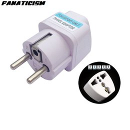 Wholesale Wholesale Electrical Sockets - Fanaticism Universal 2 Pin AC Power Electrical Plug Adaptor Converter Travel Power Charger UK US AU To EU Plug Adapter Socket