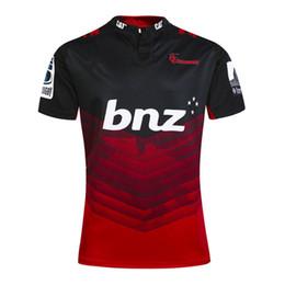 Transferencia de camisetas online-2017 Rugby League Nueva Zelanda Super Rugby Union Crusaders jersey de alta temperatura de transferencia de calor jersey de rugby