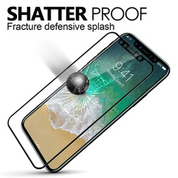 Wholesale Full Guard - Tempered Glass Screen Protector,Toughened Pet Film Full Coverage Soft Edge Tempered Glass 3D Curved Guard for Iphone x 8 7 7plus