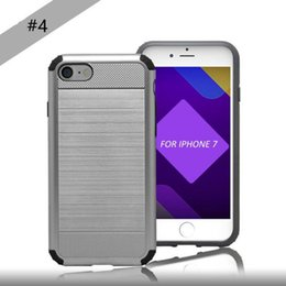 Wholesale Lg Smartphone Covers - Hybrid Armor Dual Layer Cover Case Smartphone 2 In 1 Kickstand Case For Iphone X 8 For iphone 7 For Samsung Note 8