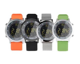 sms camera control Promo Codes - IP67 Waterproof EX18 Smart Watch Men Sport Watches Pedometer Bluetooth 4.0 Call SMS Reminder for Android ios Resistant Smart Watches