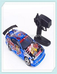 Wholesale 4wd Electric Rc Drift - Wholesale- blue 1 14 Rc Car Drift scale models Remote Control car Electric 4WD Car Free Shipping By Singapore Post