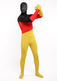 Wholesale Germany Suits - DHL Mens Womens Zentai Germany German Flag Zentai Suit Skin Costume All Sizes