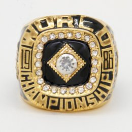 Wholesale 1986 Mets - 2017 Newest Wedding Sport Jewelry 1986 NY Mets World Series Championship Ring For Men Ring, Gold Plated Man Wedding Jewelry