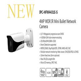Wholesale Security Camera S - Free Shipping DAHUA Security IP Camera 4MP WDR IR Mini Bullet Network Camera IP67 PoE Without Logo IPC-HFW4431E-S