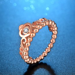 Wholesale Ebay Hot Sell - NEW ARRIVAL HOT SALE special for fast selling wish Europe and the United States rose gold crown ring eBay speed out of a single hand jewelr