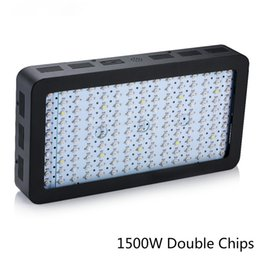 Wholesale Black Spectrum - black 1500W Black Double Chips LED Grow Light Full Spectrum 410-730nm For Indoor Plants and Flower Phrase Very High Yield