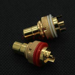 Wholesale Audio Video Classes - EIZZ High End Female RCA Jack Socket Connector For HIFI Audio Amplifier Video TV DIY,24K Gold Platted Lot*4