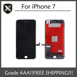 Wholesale Touch Glass Free Shipping - Quality AAA LCD Display For iPhone 7 LCD Screen Touch Glass Screen Digitizer Full Assembly black&white DHL Free Shipping