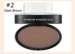 Wholesale Seal Stamps - High Quality Eye brow Powder Seal Makeup Eyes Brow Stamp Water-proof Palette Delicated Shadow Definition factory price DHL ship